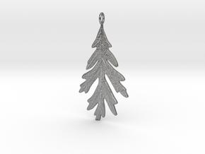 Oak Leaf Pendant in Natural Silver