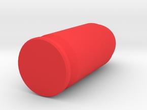 45 Acp snap cap 1 each in Red Processed Versatile Plastic