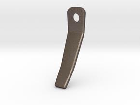 Chainfingerrigidupper in Polished Bronzed Silver Steel