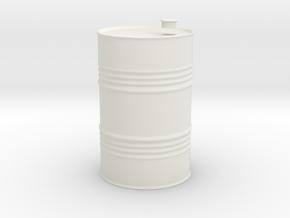 oil drum 1/35 in White Natural Versatile Plastic