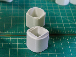 Ambiguous Cylinders : Nesting Cylinders in White Natural Versatile Plastic