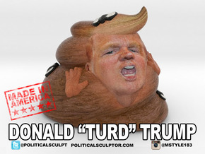 New Turd Trump Small in Full Color Sandstone