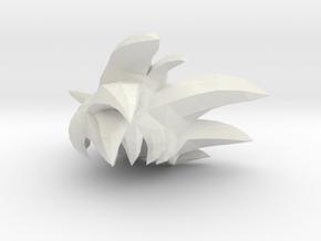 Custom Goku God Inspired Hair for Lego in White Natural Versatile Plastic