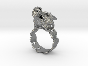 Dragon Ring in Natural Silver