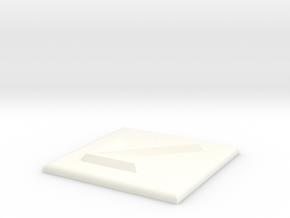 Pfeil nach links unten in White Processed Versatile Plastic