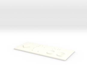 1.OG mit Pfeil nach unten in White Processed Versatile Plastic