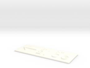 2.OG mit Pfeil nach links in White Processed Versatile Plastic