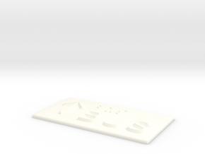BUS mit Pfeil nach oben in White Processed Versatile Plastic