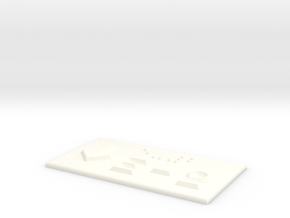 E-2 mit Pfeil nach unten in White Processed Versatile Plastic