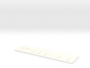 EBENE E mit Pfeil nach links in White Processed Versatile Plastic