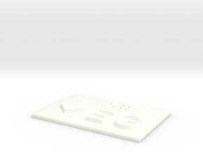 EG mit Pfeil nach unten in White Processed Versatile Plastic