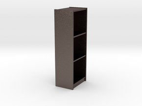 1/6th Bookshelf in Polished Bronzed Silver Steel