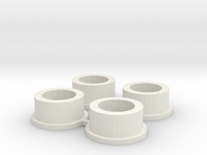 Microcentrifuge tube adapter in White Natural Versatile Plastic