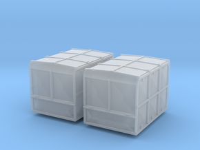 2x Haus zu Haus Container 1:120 in Smooth Fine Detail Plastic