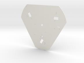 Robot Base in White Natural Versatile Plastic