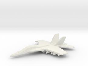 1/350 F/A-18F Super Hornet in White Natural Versatile Plastic