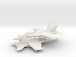 1/350 F/A-18F Super Hornet (x2) in White Natural Versatile Plastic