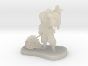 Barbarian Warrior Figurine in White Acrylic