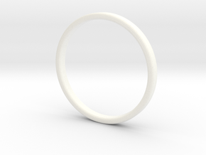 Ring For Cindy - Size 8 - 2mm Wide - 1,2mm Thick in White Strong & Flexible Polished
