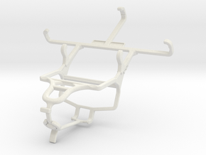 Controller mount for PS4 & Celkon Campus Colt A401 in White Natural Versatile Plastic