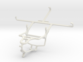 Controller mount for PS4 & Gigabyte GSmart Saga S3 in White Natural Versatile Plastic