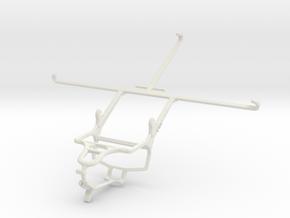 Controller mount for PS4 & Dell Venue 8 7000 in White Natural Versatile Plastic