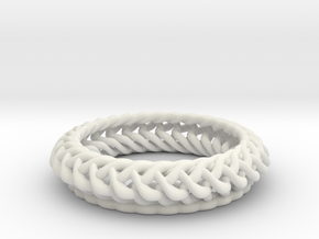 Ring 16.9mm in White Natural Versatile Plastic
