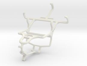 Controller mount for PS4 & LG Optimus L2 II E435 in White Natural Versatile Plastic
