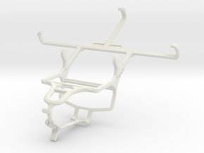 Controller mount for PS4 & Motorola Moto X Play in White Natural Versatile Plastic