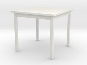 1/6 scale Table in White Natural Versatile Plastic