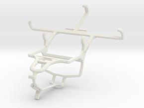 Controller mount for PS4 & Prestigio MultiPhone 54 in White Natural Versatile Plastic