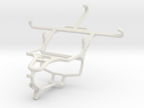 Controller mount for PS4 & Samsung Galaxy A3 Duos in White Natural Versatile Plastic