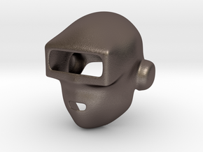 Daft Punk Mask (Smooth) in Polished Bronzed Silver Steel