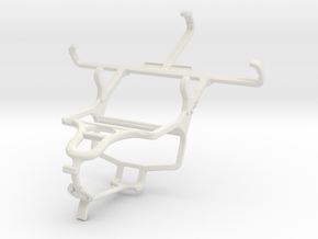 Controller mount for PS4 & Samsung Galaxy Ace 4 LT in White Natural Versatile Plastic