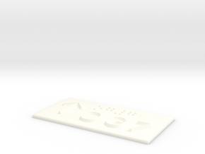 OG 7 mit Pfeil nach oben in White Processed Versatile Plastic