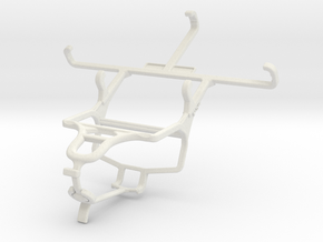 Controller mount for PS4 & Samsung Galaxy Core LTE in White Natural Versatile Plastic