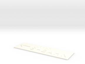 S-BAHN mit Pfeil nach links in White Processed Versatile Plastic