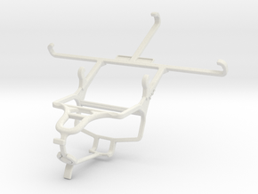 Controller mount for PS4 & Samsung Galaxy J7 in White Natural Versatile Plastic