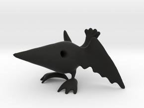 Simplified Raven in Black Natural Versatile Plastic