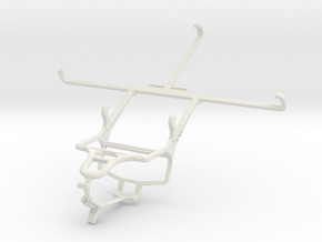 Controller mount for PS4 & Samsung Galaxy Tab 4 7. in White Natural Versatile Plastic