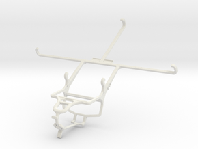 Controller mount for PS4 & Samsung Galaxy Tab Acti in White Natural Versatile Plastic