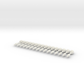1/24 Shockwave Air Struts. set of 32 total struts in White Natural Versatile Plastic