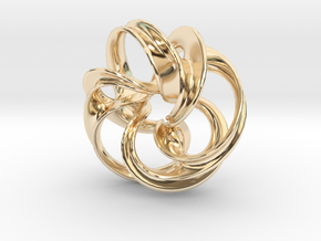 Scherk Minimal Surface Toroid in 14K Yellow Gold