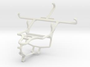 Controller mount for PS4 & Spice Mi-451 Smartflo P in White Natural Versatile Plastic