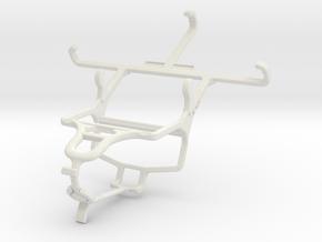 Controller mount for PS4 & Unnecto Quattro X in White Natural Versatile Plastic