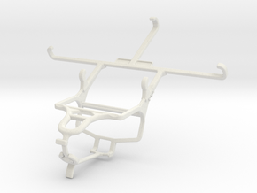Controller mount for PS4 & verykool s5518 Maverick in White Natural Versatile Plastic