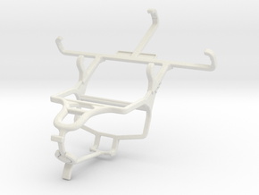 Controller mount for PS4 & Yezz Andy 4EI in White Natural Versatile Plastic