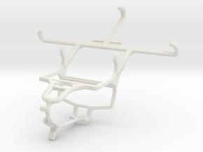 Controller mount for PS4 & ZTE Blade Q Maxi in White Natural Versatile Plastic