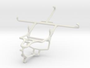 Controller mount for PS4 & ZTE Grand Memo II LTE in White Natural Versatile Plastic