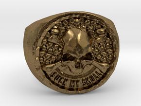 Suck my skull in Natural Bronze